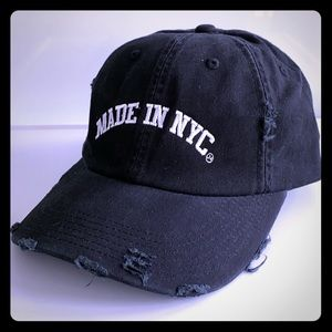 """Distressed """"Made in NYC"""" baseball cap"""